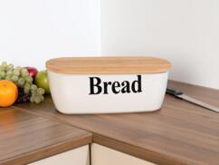 """Boîte à pain """"Bread"""" avec planche à découper en bambou"""
