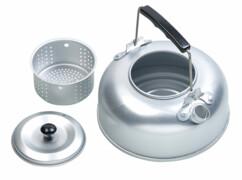 Bouilloire de camping en aluminium avec filtre à thé par Semptec