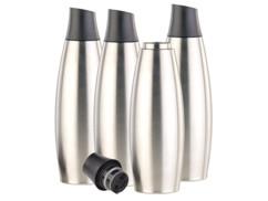 4 bouteilles isothermes design 650 ml en acier inoxydable