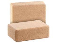 2 briques de yoga en liège naturel