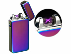 Briquet électronique USB à double arc électrique - Mauve irisé