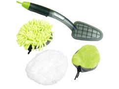 Brosse nettoyante 3 en 1 avec 3 embouts en microfibre et pulvérisateur