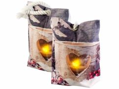 2 coussins bloque porte à LED motif de bougie chauffe-plat - 20x14cm