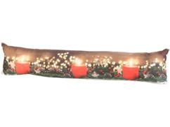 Coussin de porte à 3 LED avec motifs bougies - 90 x 20 cm