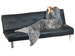 Couverture queue de sirène grise 180 x 70 cm pour adulte
