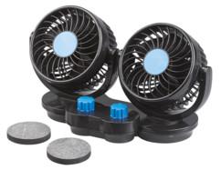 Double ventilateur 6W/ 12V à 2niveaux de vitesse VT-60.car