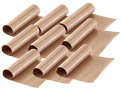 pack de 9 feuilles de cuisson patisserie réutilisable pour four couleur beige