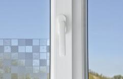 Film-déco occultant pour vitres, avec effet 3D - ''Carreaux''