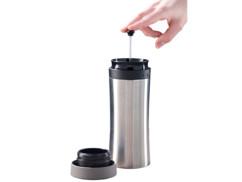 Gobelet isotherme 2 en 1 avec fonction cafetière à piston 0,48 L