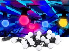 Guirlande guinguette 9,50 m 20 ampoules LED 6W - 4 couleurs