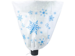 """Housse d'hivernage décorative 110 x 120 cm - """"Flocons"""""""