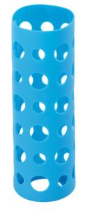 Housse en silicone 20 cm pour bouteille en verre - Bleu