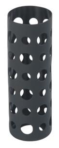 Housse en silicone 20 cm pour bouteille en verre - Noir