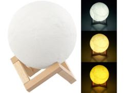 Lampe lune à luminosité et couleur variables, Ø 15 cm