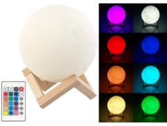 Lampe lune télécommandée à luminosité et couleur variables, Ø 15cm