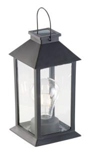 lanterne solaire avec fausse ampoule led à filaments à poser ou suspendre