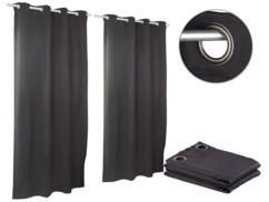 Pack de 2 rideaux occultants 145 x 245 cm avec œillets 4 cm - coloris noir