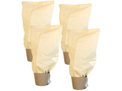 Pack de 4 housses d'hivernage M - 80 x 60 cm, 70 g/m²