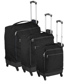 Pack de 3 valises trolley ultralégères - 46 / 57 / 78 L