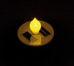 lot de 4 bougies plates chauffe plat led avec chargeur solaire etanche lunartec