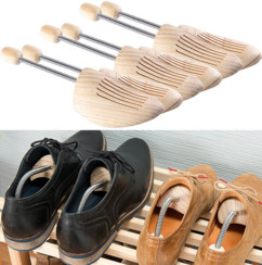 Pack de 3 paires d'embauchoirs à ressort spiralé en bois de pin - Pointure 46/47