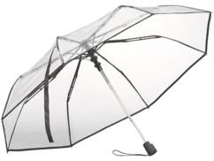 Parapluie automatique Ø 100cm avec armature en fibre de verre - Transparent