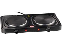 double plaque de cuisson electrique 2000w pas cher pour étudiant avec thermostat 5 niveauc