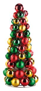 Pyramide de boules de Noël lumineuse