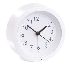Réveil à quartz rechargeable silencieux avec cadran éclairé