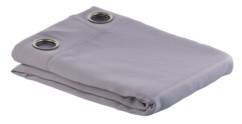 Rideau occultant 145 x 245 cm avec œillets 4 cm - coloris gris
