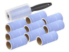 Rouleau adhésif anti-peluche avec 9 rouleaux de recharge
