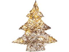 Mini sapin de Noël décoratif en osier avec LED