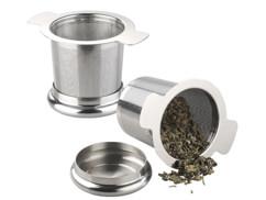 Set de 2 passe-thé en acier inoxydable avec couvercle pour tasse Ø 65 – 90 mm