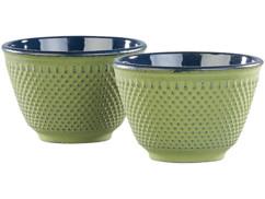 Set de 2 tasses à thé style Arare - Vert cuivre