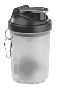 mini shaker de sport et musculation pour préparation protéines et booster 500 ml avec mousqueton