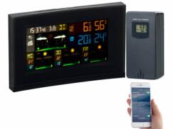 Station météo connectée avec capteur extérieur et écran couleur FWS-740