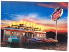 """Tableau lumineux à LED """"Rock It Diner"""" 45 x 30 cm"""