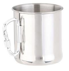 Tasse en acier inoxydable avec mousqueton - 250 ml
