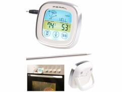 Thermomètre à viande numérique avec écran tactile, jusqu'à 250°C