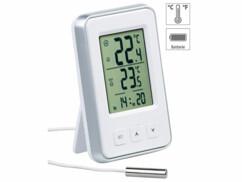 mini thermomètre digital intérieur extérieur avec sonde filaire pas cher