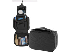 trousse de toilette grand format 6 compartiments vanity case avec crochet de suspension pearl