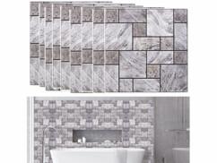 autocollants décoratifs 3D immitation mur de pierres avec mise en situation