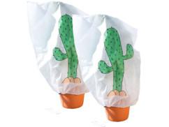 """2 housses d'hivernage décoratives 110 x 120 cm - """"Cactus"""""""