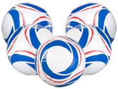 5 ballons de football loisir taille 4 - 390 g