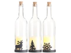lot de 3 bouteilles lumineuse