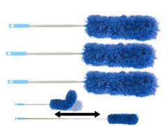 3 plumeaux malléables en microfibre avec manche télescopique XXL 280 cm