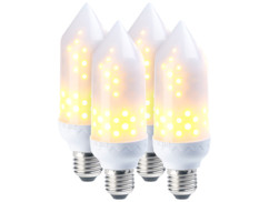 4 ampoules LED effet flamme E27 / 5 W / 304 lm / A+