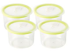 4 boîtes rondes pour mise sous vide - 0,6 L