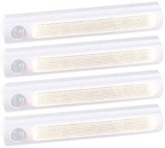 Lampe de placard sans fil à LED avec détecteur - 25 lm - Blanc - x4