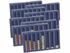 8 plateaux de tri pour pièces de monnaie